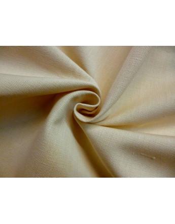 Tissu Lin de Coton Beige