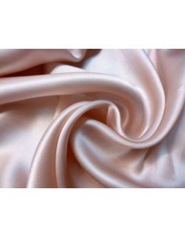 Tissu Satin de Soie Rose Pâle