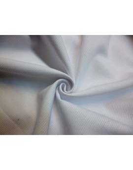 Tissu Piqué Coton Blanc 78
