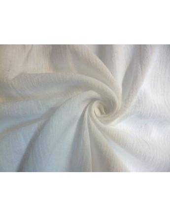 Tissu Coton de Pongé Blanc