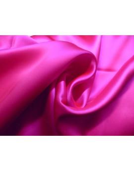 Tissu Satin de Soie Fushia Clair