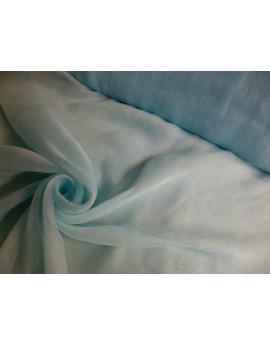 Tissu Mousseline de Soie Bleu Pâle 79