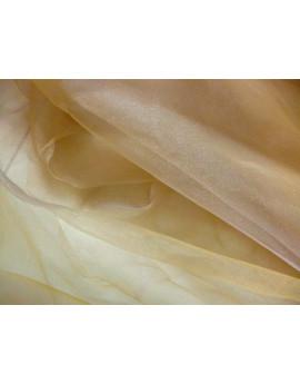 Tissu Organza Beige x 280 largeur