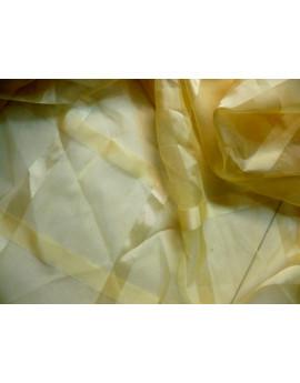 Tissu Organza Jaune Imprimé x 280 largeur
