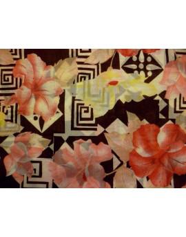 Tissu Voile de Coton des Fleurs 70