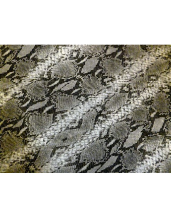 Tissu Mousseline Polyester Imprimée Serpent