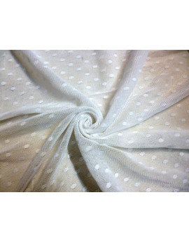 Tissu Jersey Maille blanc  x 200cm de largeur