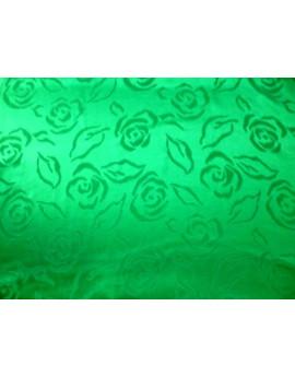Tissu Satin de Soie Vert Imprimée 95
