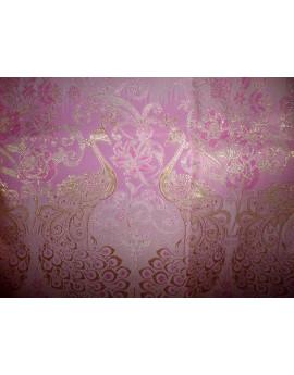 Tissu Thailand Polyester Imprimée Rose 87
