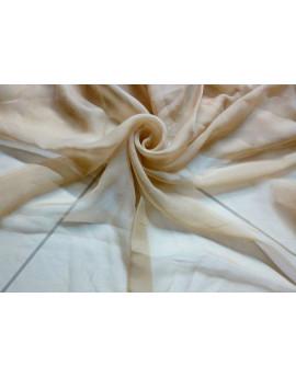 Tissu Mousseline de Soie Plissé Beige