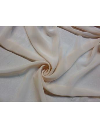 Tissu Mousseline Polyester Beige Pailleté