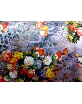 Tissu Satin Polyester Imprimée 91