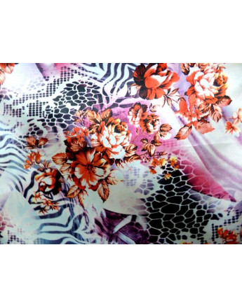 Tissu Satin Polyester Imprimée 90