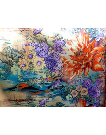Tissu Satin Polyester Imprimée 89