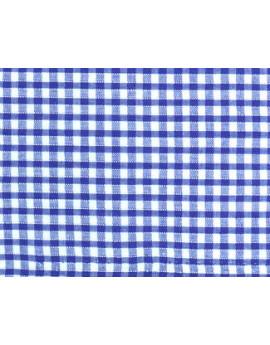 Vichy Petits Carreaux Bleus Gitanes Largeur 140cm