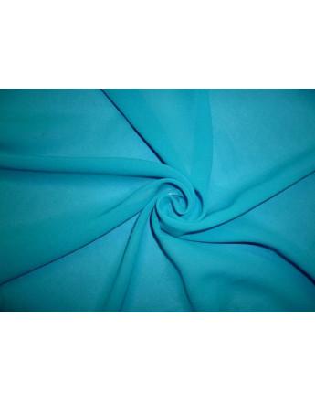 Tissu Mousseline de Soie Turquoise A65