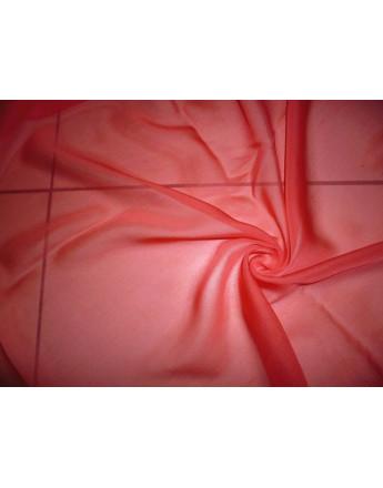 Tissu Mousseline de Soie Corail A64