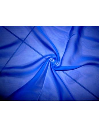 Tissu Mousseline de Soie Bleu électrique A63