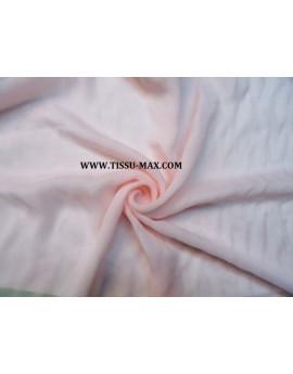Tissu Mousseline de Soie Rose Pâle