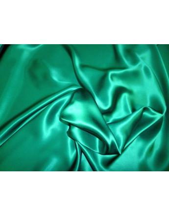 Tissu Satin de soie Vert foncé