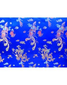 Tissu Chinois Bleu roi 008