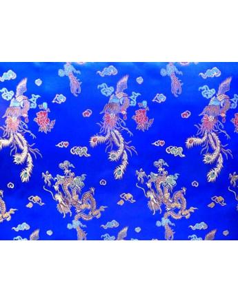 Tissu Chinois Bleu roi
