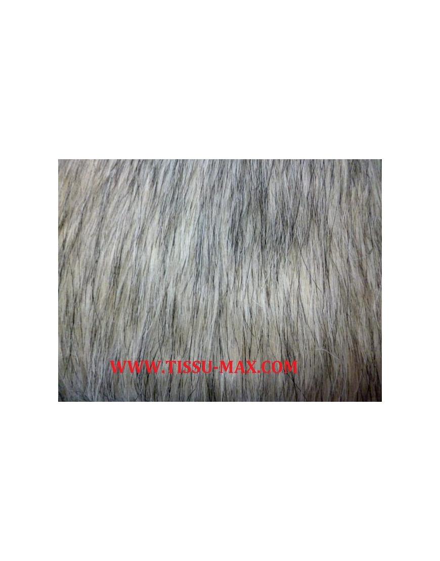 Cheveux Longs Fourrure Tissu Noir Frost 155 cm large 370gsm modacrylique tissu!