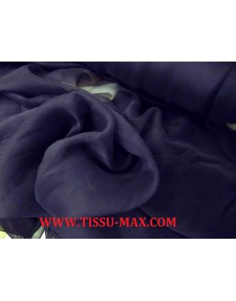 Mousseline de Soie Violet Noir