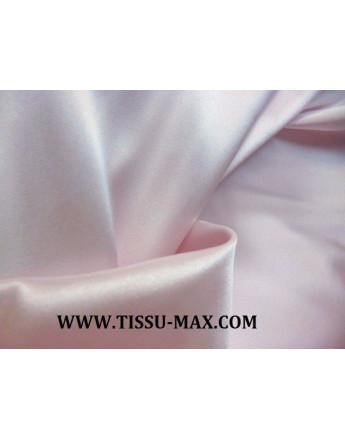Tissu Satin de Soie Rose très Pâle