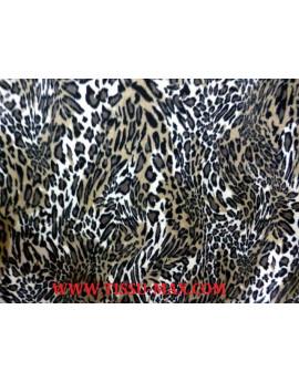 Tissu Jersey de velour léopard J