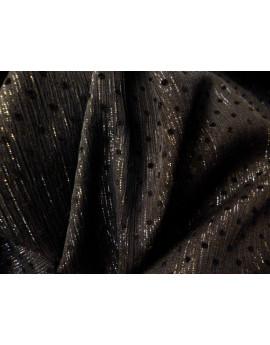 Tissu Mousseline Polyester Plumetis Noir J
