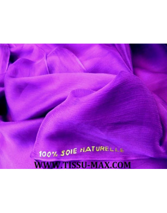 Tissu Mousseline de Soie Violet
