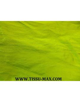 Tissu Soie Sauvage Vert Anis R