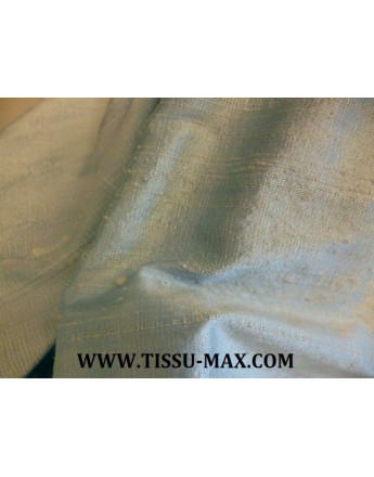 Tissu Soie Sauvage Bleu très Pâle R