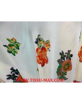 Tissu Crêpe Imprimé Polyester