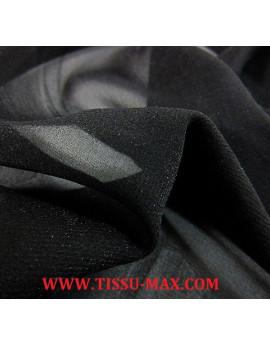 Tissu mousseline de soie noir x 110 cm de largeur