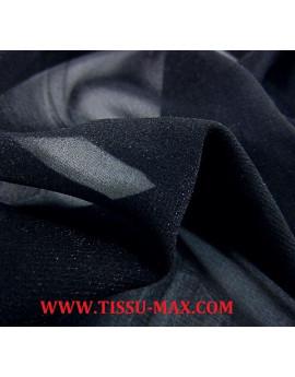 Tissu mousseline de soie bleu nuit  x 110 cm de largeur