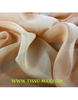 Tissu mousseline de soie beige x 110 cm de largeur