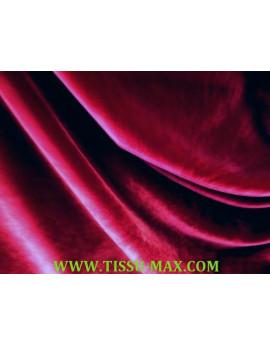 Tissu velours de soie bordeaux