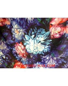 Tissu Polyester Imprimé fleurs d'été J01