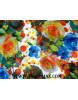 Tissu Mousseline Polyester Imprimée fleurs d'été A69