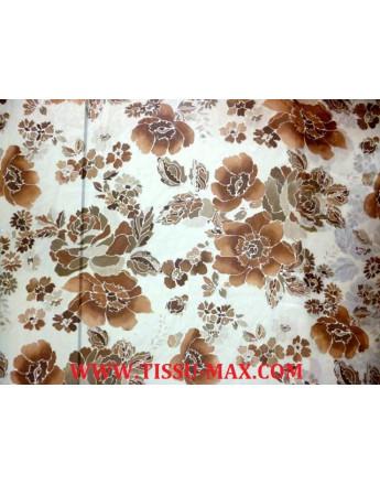 Tissu Mousseline Polyester Imprimée fleurs d'été A68