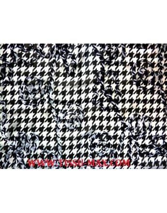 Tissu Mousseline Polyester Brodé A67