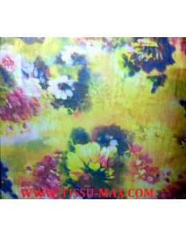 Tissu Mousseline Polyester Imprimé fleurs d'été A65