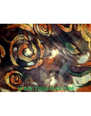 Tissu Mousseline Polyester Imprimée A63