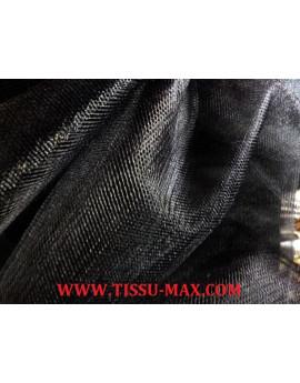Tissu tulle souple noir
