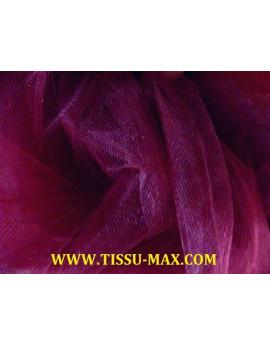 Tissu tulle souple prune