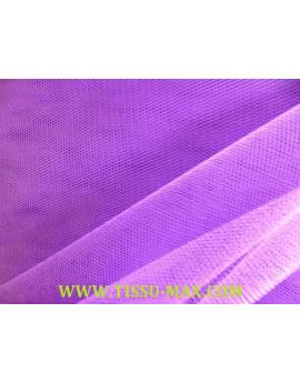 Tissu tulle rigide violet