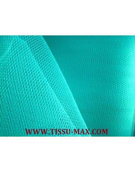 Tissu tulle rigide turquoise
