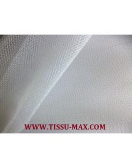 Tissu tulle rigide blanc